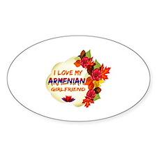 Armenian Girlfriend Valentine design Decal