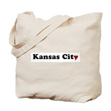 Kansas City with Heart Tote Bag