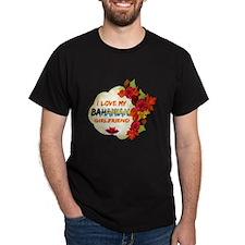 Bahamian Girlfriend Valentine design T-Shirt