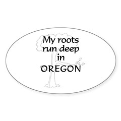 Oregon Roots Oval Decal
