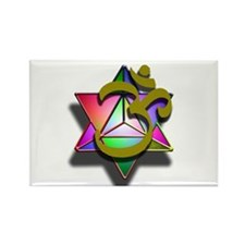 MerKaBa Om LightBody Rectangle Magnet