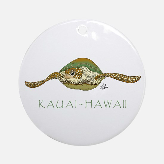 Sea Turtle Ornament (Round)