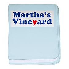 Martha's Vineyard with Heart baby blanket