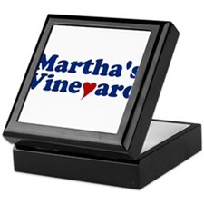 Martha's Vineyard with Heart Keepsake Box