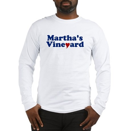 Martha's Vineyard with Heart Long Sleeve T-Shirt
