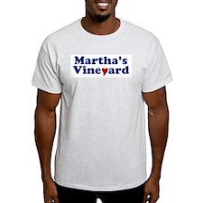 Martha's Vineyard with Heart T-Shirt