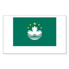Macau Flag Picture Rectangle Stickers