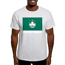 Macau Flag Picture Ash Grey T-Shirt
