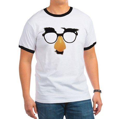 Groucho Marx Moustache Glasses Ringer T