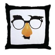 Groucho Marx Moustache Glasses Throw Pillow