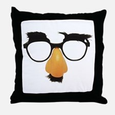 Groucho Marx Moustache Glasses Throw Pillow