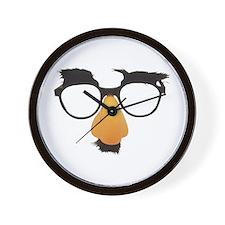 Groucho Marx Moustache Glasses Wall Clock