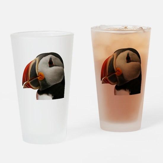Puffin Portrait Drinking Glass