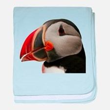 Puffin Portrait baby blanket