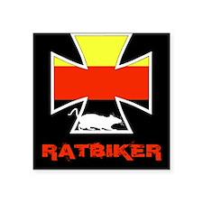 """Rat biker Germany Square Sticker 3"""" x 3"""""""