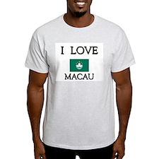 I Love Macau Ash Grey T-Shirt