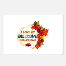 Belizean Girlfriend Valentine design Postcards (Pa