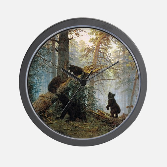 Ivan Shishkin Morning In A Pine Forest Wall Clock