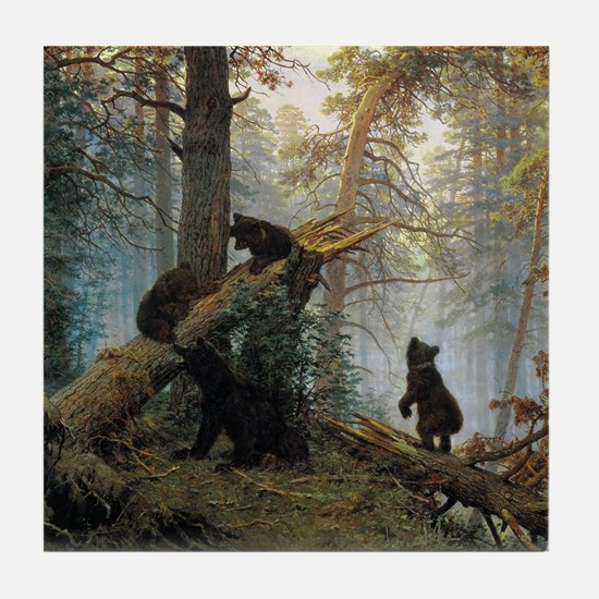 Ivan Shishkin Morning In A Pine Forest Tile Coaste