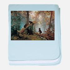 Ivan Shishkin Morning In A Pine Forest baby blanke