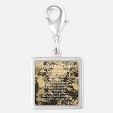 The Lords Prayer Vintage Silver Square Charm
