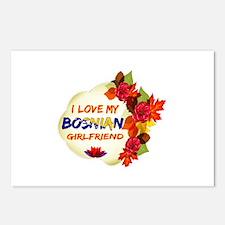 Bosnian Girlfriend Valentine design Postcards (Pac