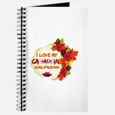 Canadian Girlfriend Valentine design Journal