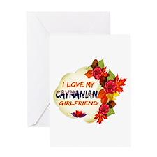Caymanian Girlfriend Valentine design Greeting Car