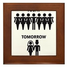Today - Tomorrow (Stag Night / Stag Party) Framed