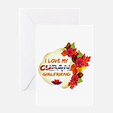 Cuban Girlfriend Valentine design Greeting Card