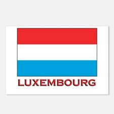 Luxembourg Flag Merchandise Postcards (Package of