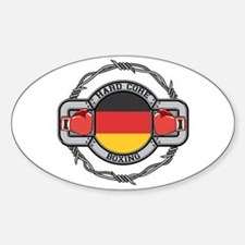 Germany Boxing Oval Decal