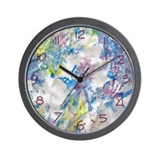 Cute Finger paint Wall Clock