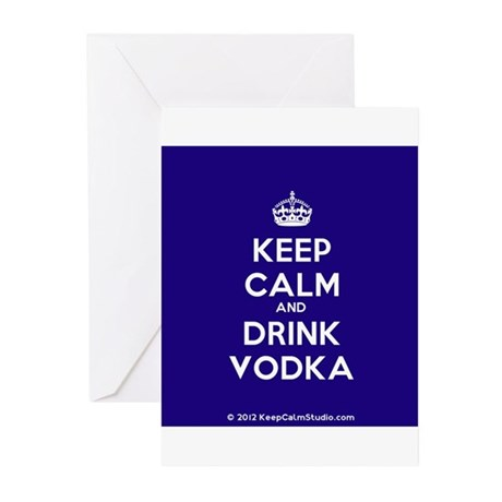 Keep Calm and Drink Vodka Greeting Cards (Pk of 10
