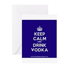 Keep Calm and Drink Vodka Greeting Cards (Pk of 20
