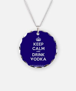 Keep Calm and Drink Vodka Necklace