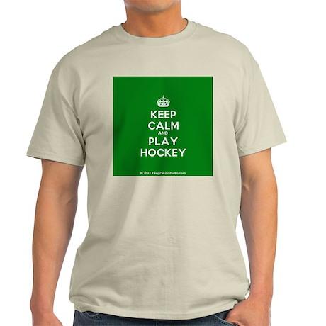 Keep Calm and Play Hockey Light T-Shirt