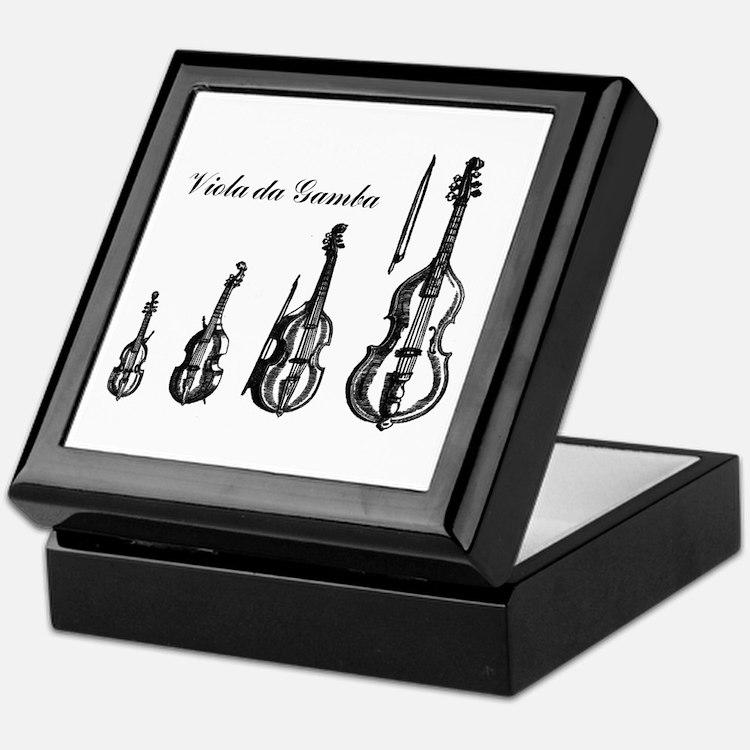 Viola da Gamba Tile Topped Box