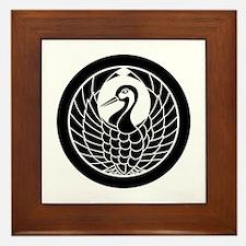 Crane circle, encircled Framed Tile
