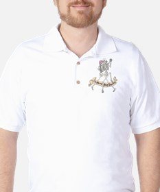 Dancing Skeletons Golf Shirt
