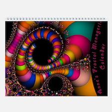 Anne's Fractal Menagerie Wall Calendar