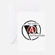 No Gods No Masters Greeting Cards (Pk of 10)