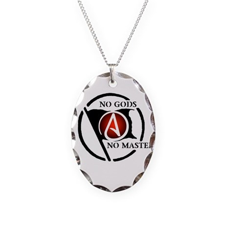 No Gods No Masters Necklace Oval Charm