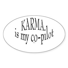 Karma is my Co-pilot Oval Decal