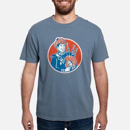 Scotsman Scottish Bagpip Mens Comfort Colors Shirt