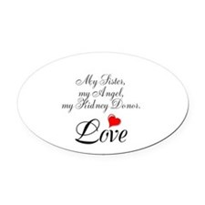 My Sister, my Angel Oval Car Magnet
