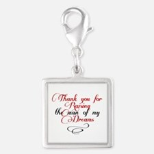 Man of my dreams Mother in law Silver Square Charm