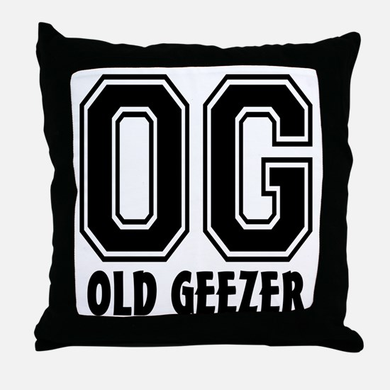 OG - Old Geezer Throw Pillow