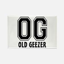 OG - Old Geezer Rectangle Magnet