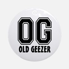 OG - Old Geezer Ornament (Round)